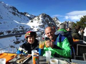 Boys skiing