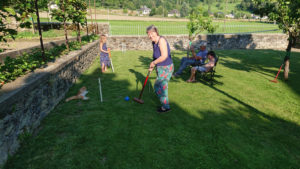 Croquet in the Garden