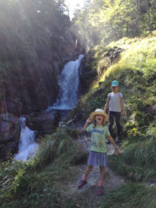 Girls waterfall