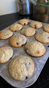 food - blueberry muffins
