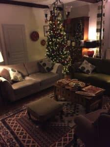 lounge at Xmas