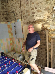 steve and jan playing table football 2